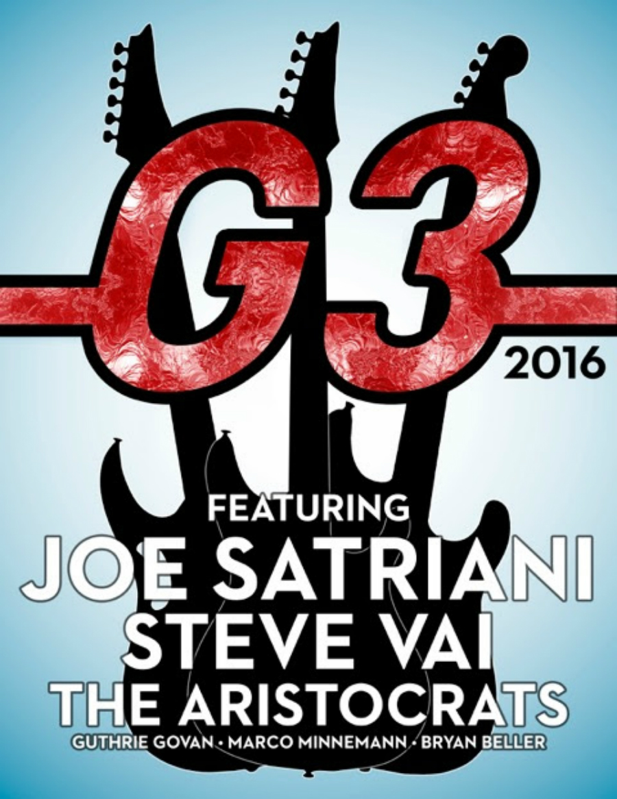 G3 2016: Satriani, Vai y The Aristocrats